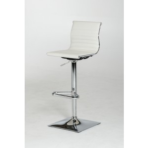 Modrest Mari Modern White Leatherette Bar Stool