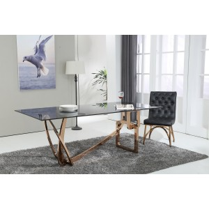 Modrest Oro Rosa Modern Rosegold Dining Table