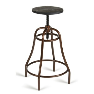 Modrest Fritch Modern Black & Bronze Bar Stool
