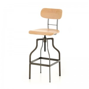 Modrest Hunt Modern Wood Bar Stool