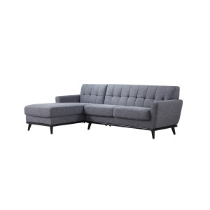 Divani Casa Corsair Modern Grey Fabric Sectional Sofa