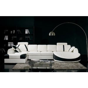 Divani Casa T57 Modern Leather Sectional Sofa