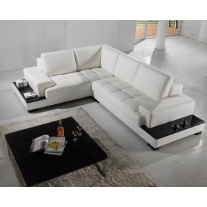 Divani Casa T71 - Modern Leather Sectional Sofa