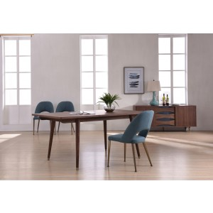 Modrest Gloria Modern Walnut Dining Table