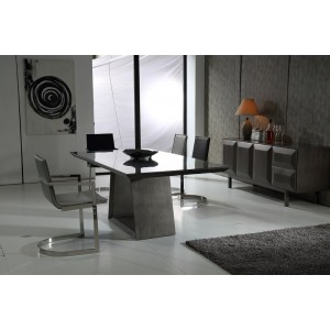 Modrest Jago Contemporary Black Gun Dining Table
