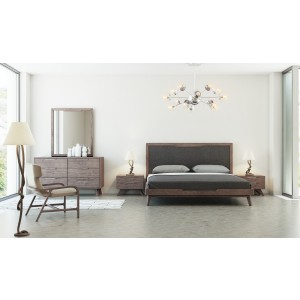 Nova Domus Soria Modern Grey Walnut Bedroom Set