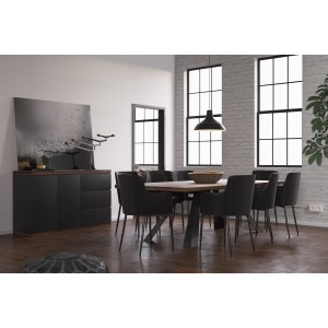 Modrest Norse Modern Reclaimed Wood Dining Set