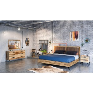 Modrest Sala Modern Light Wood Bedroom Set