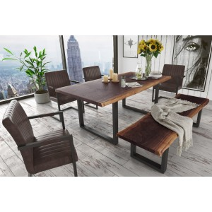 Modrest Taylor Large Modern Live Edge Wood Dining Table