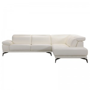 Divani Casa Tundra Modern White Leather Sectional Sofa