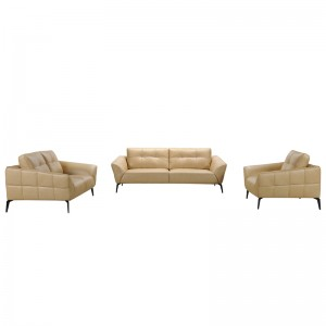 Divani Casa Forge Modern Beige Leather Sofa Set