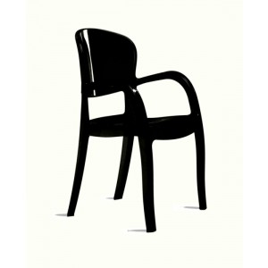 Modrest Temptress - Modern High Black Gloss Italian Dining Chair