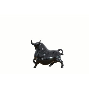 Modrest Bull Modern Black & Brown Sculpture