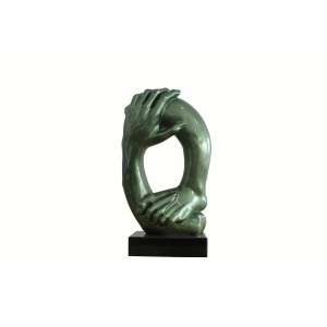 Modrest Hands Modern Green Sculpture