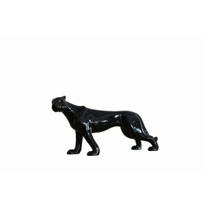 Modrest Panther Modern Black Sculpture