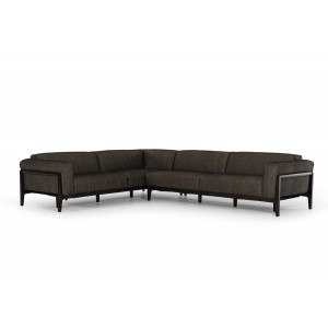 Divani Casa Tifton Modern Brown Fabric Sectional Sofa