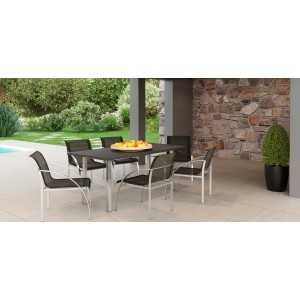 Renava Toluca Outdoor Black Dining Set