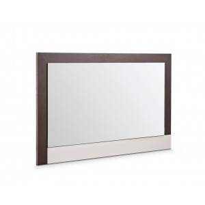 Modrest Torino Modern Brown Oak & Grey Mirror