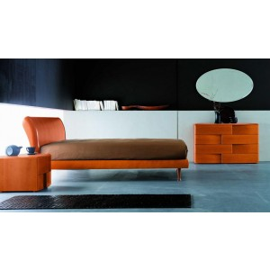 SMA Trendy California King Cherry Modern Italian Bed