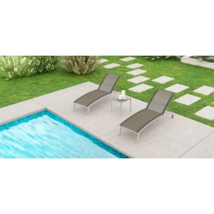 Renava Tulum Outdoor Brown Lounge Chair Set