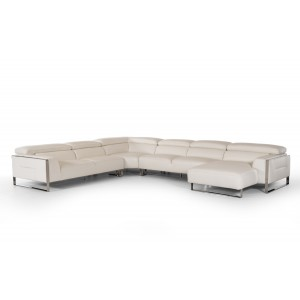 Divani Casa Tupelo Modern White Leather Sectional Sofa