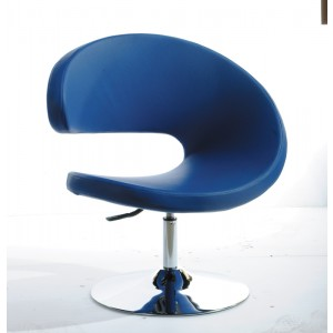 Modrest Adara Modern Blue Leatherette Lounge Chair