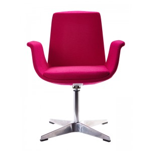 Modrest Dacia Modern Fuchsia Fabric Accent Chair