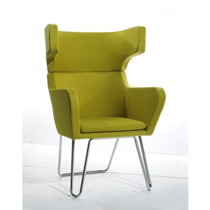 Modrest Anser Modern Green Fabric Lounge Chair