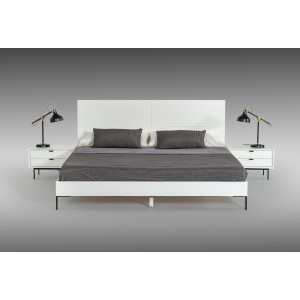 Nova Domus Valencia Contemporary White Bed