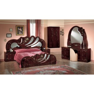 Modrest Vanity Mahogany - Italian Classic Bedroom Set