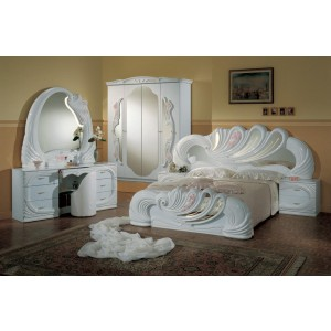 Modrest Vanity White - Italian Classic Bedroom Set