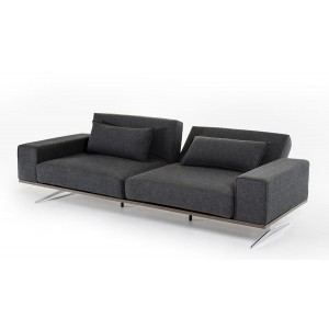 Divani Casa Vermont - Modern Grey Fabric Sofa Bed