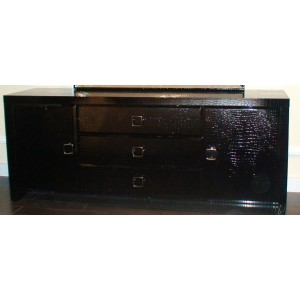 A&X Glam Black Crocodile Dresser