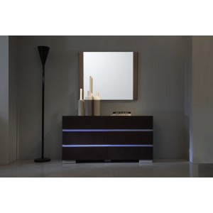 Modrest Anzio Modern Brown Oak Wall Mirror