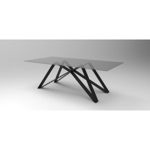 Modrest Stellar Modern Smoked Glass Dining Table