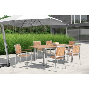 Renava Vista Outdoor Teak Dining Table Set