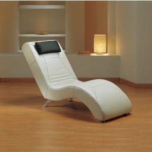 Estro Salotti Viva Modern White Leather Lounge Chaise