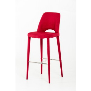 Modrest Williamette Modern Red Fabric Bar Stool