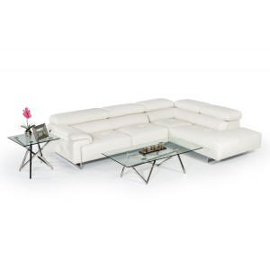 Estro Salotti Wish Modern White Leather Sectional Sofa