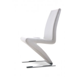 Zayd Modern White Eco-Leather Dining Chair (Set of 2)