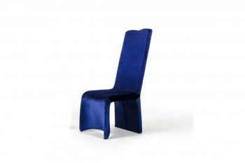 Sapphire - Modern Blue Fabric Dining Chair (Set of 2)