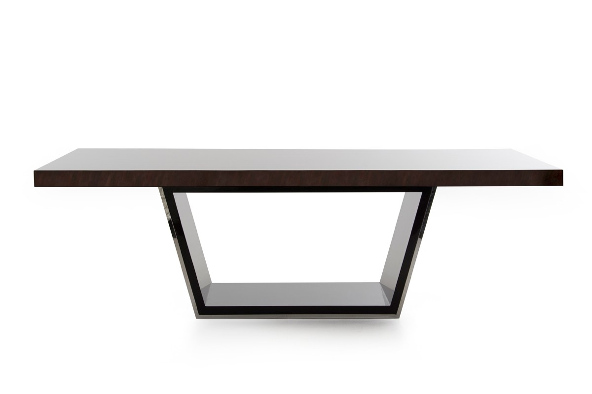 Modrest christa modern ebony high gloss dining table for Modern high dining table