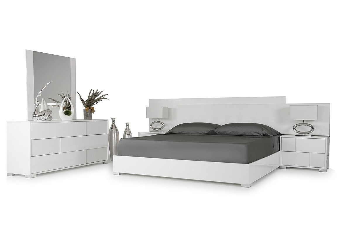 Modern White Bedroom modrest monza italian modern white bedroom set