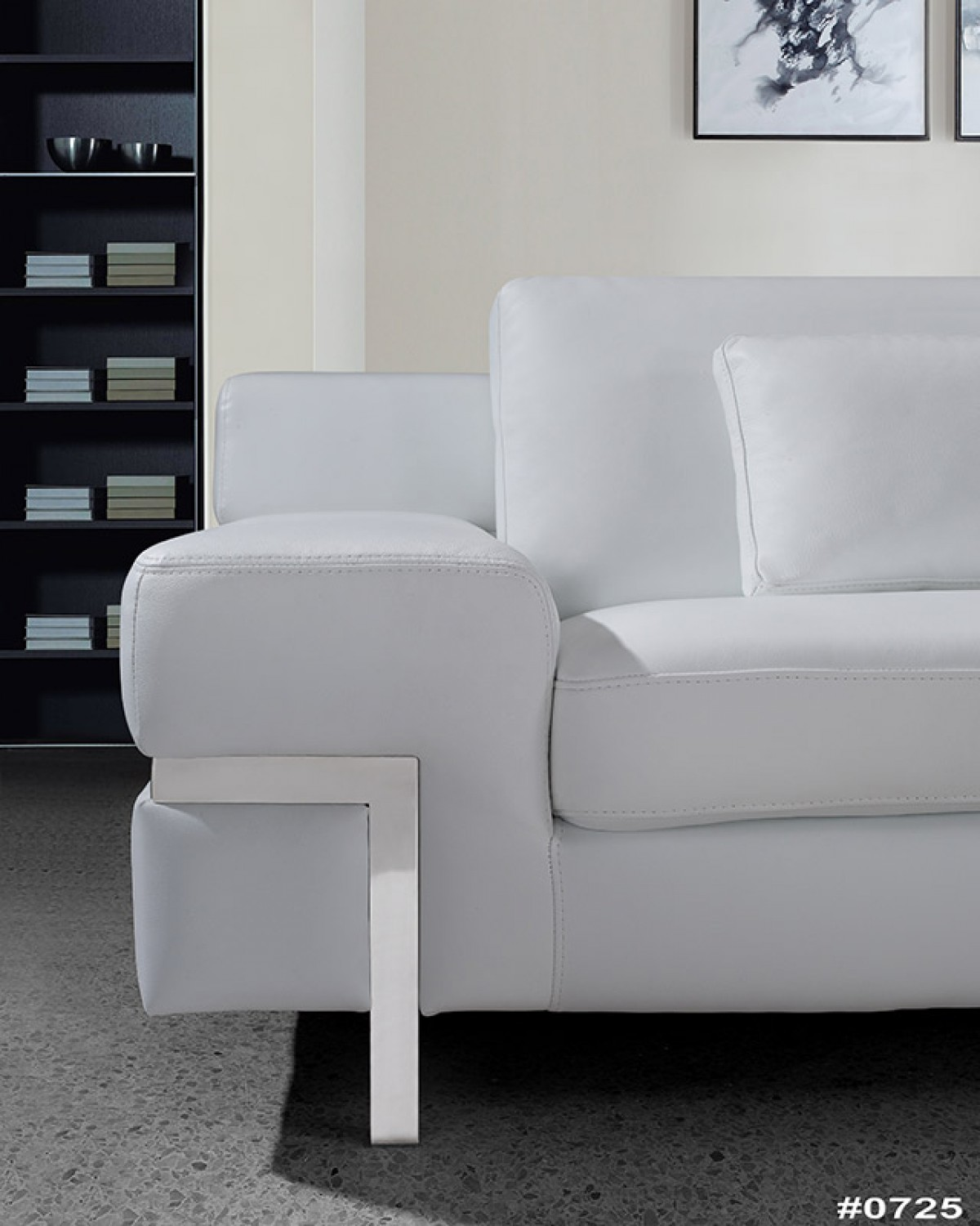 Divani casa clef modern white leather sofa set for Modern white furniture
