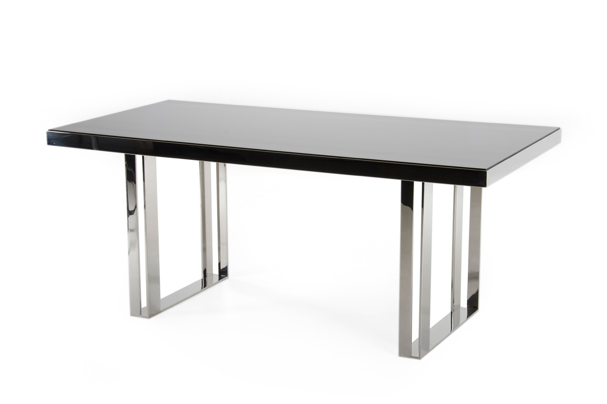 Stainless Steel Outdoor Dining Table Modrest Courtland Modern Stainless Steel Dining Table