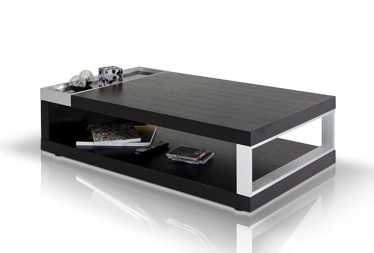 fine modern black coffee table vghbaoak modrest gemstone oak t