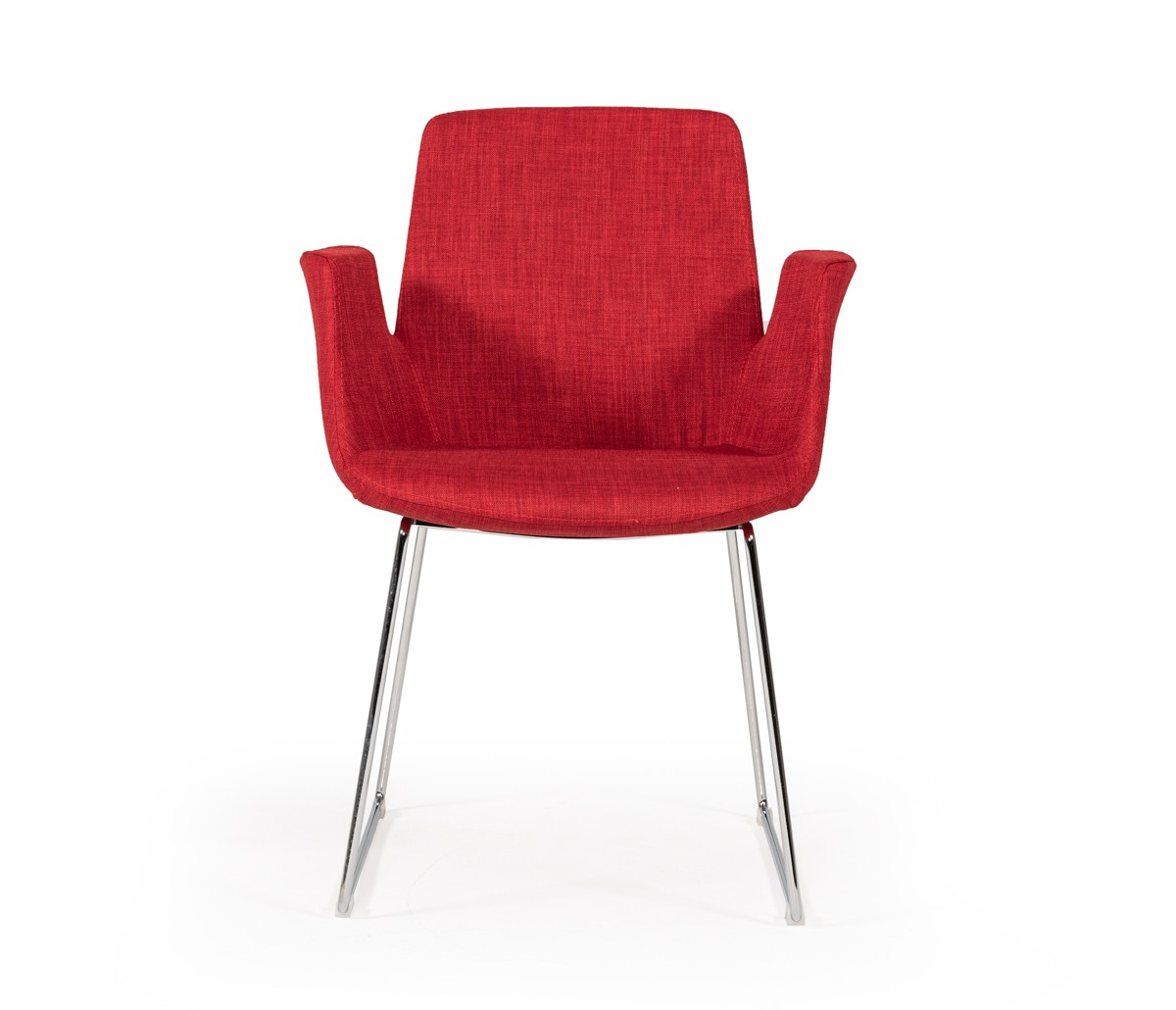 Modrest Altair Modern Red Fabric Dining Chair Dining
