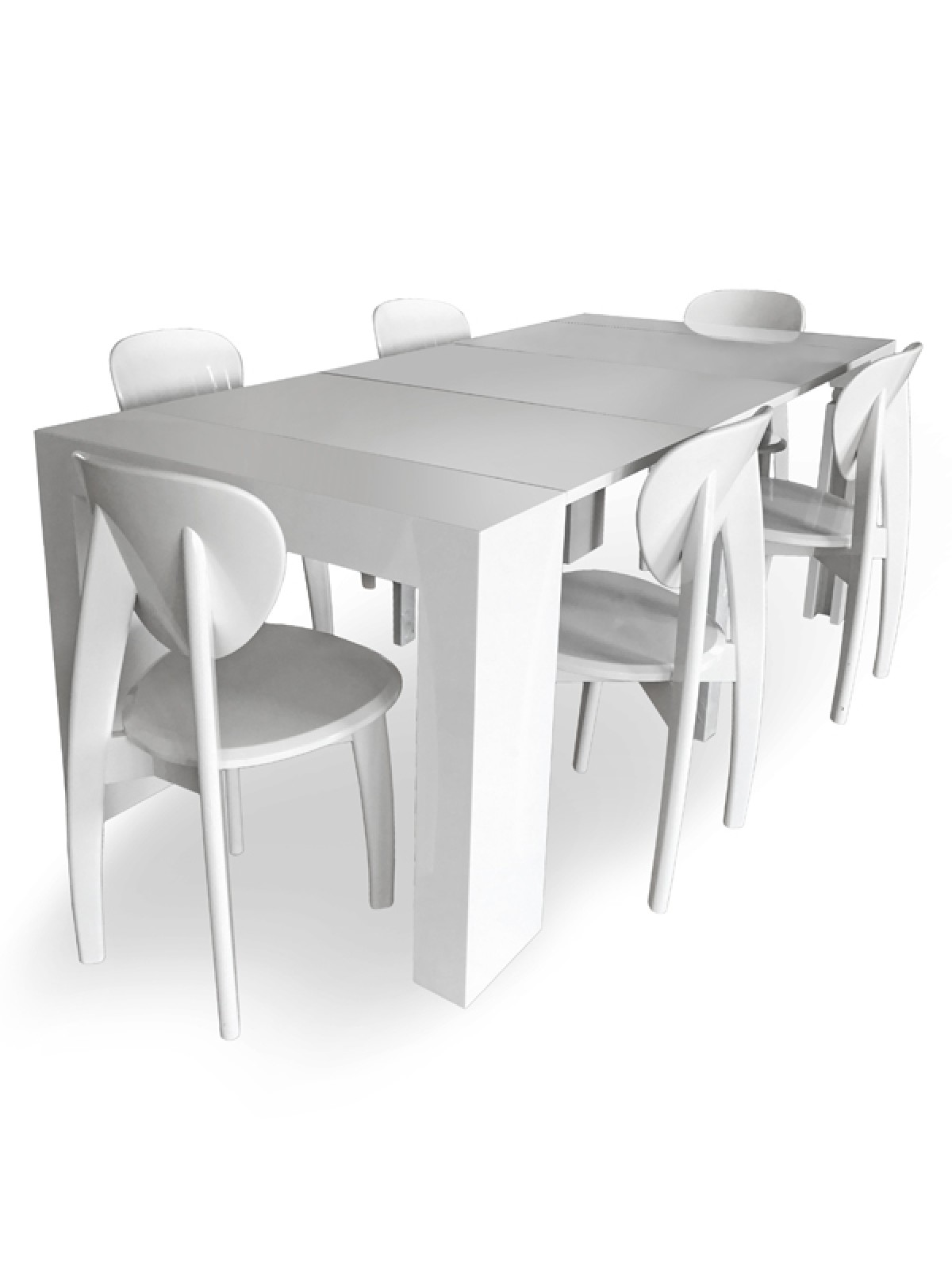 Versus Doreen Modern White Extendable Dining Table