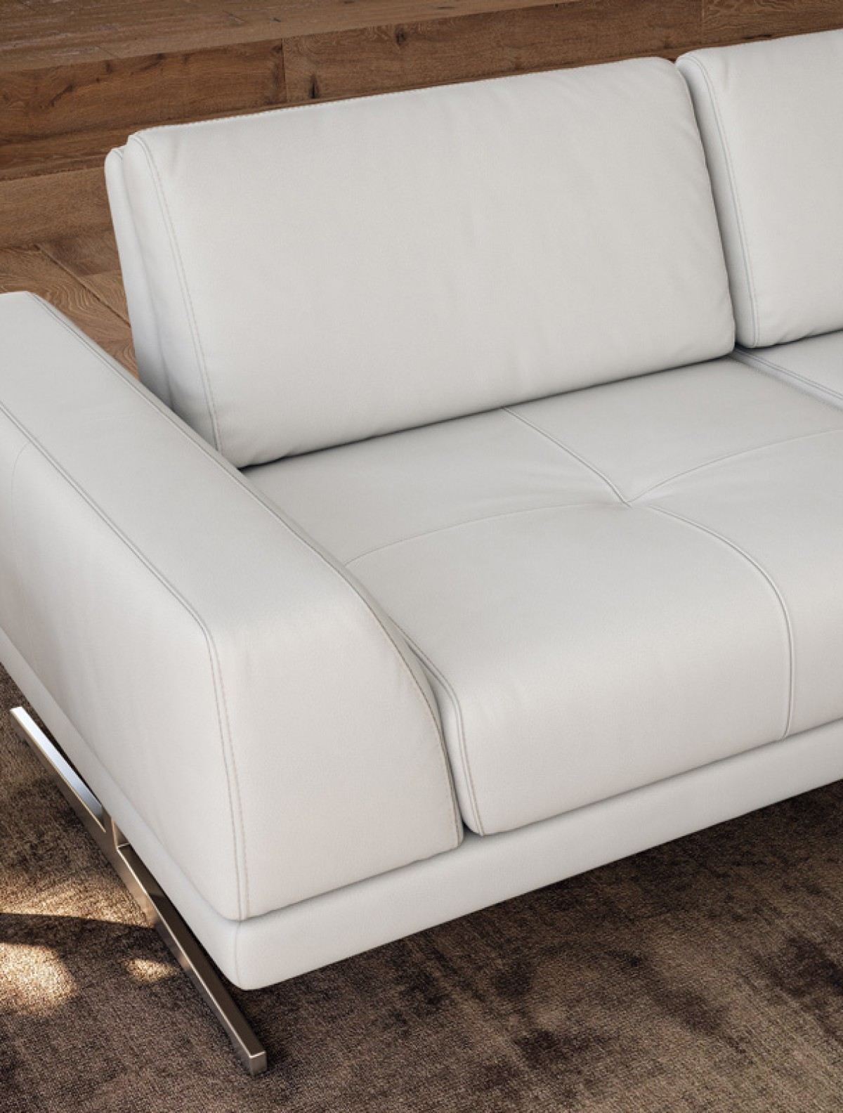 Accenti Italia Bellagio Italian Modern White Leather