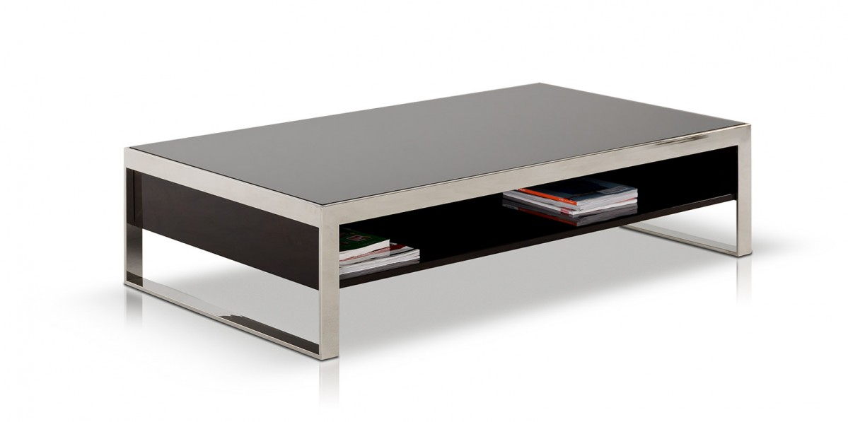 Modrest Noble Modern Ebony Lacquer Coffee Table Coffee Tables Living Room